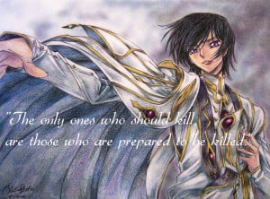 Psychological Anime/Manga Lelouch vi Britannia ~ Kill Quote