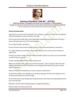 Acharya chanakya quotes