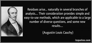 ... naturally in several branches of analysis.... Their consideration ...