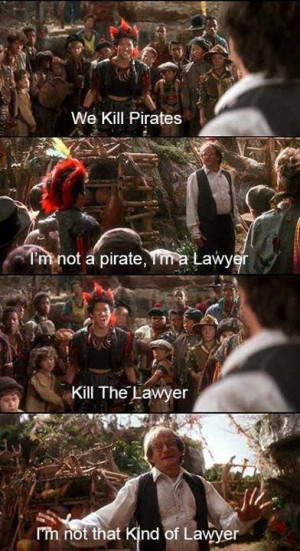 We kill pirates I'm not a pirate I'm a lawyer
