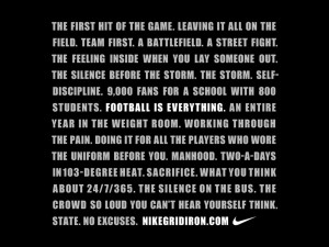 ... nike american football motivational quotes nike football quotes nike