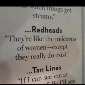 The unicorn of women? Cute...I randomly searched redheads this is ...