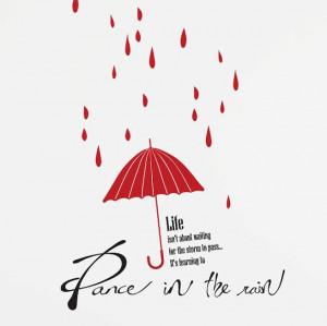 Rain Drops Umbrella Quotes DIY Modern Wall Art by WallSpurArt, $38.99