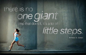 there is no one giant step that does it, its a lot of little steps