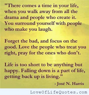 Jose N Harris quote on life - http://www.loveoflifequotes.com/life ...