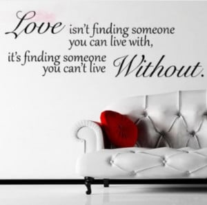 love-without-quote-wall-sticker-decal-hanging-mural-self-adhesive ...