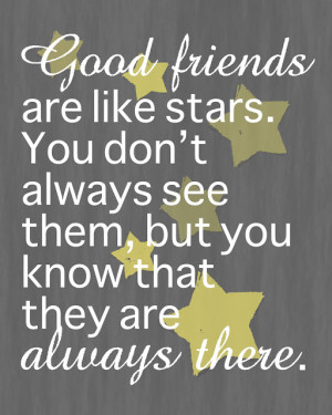 Friends are like Stars - Free 8x10 Printable