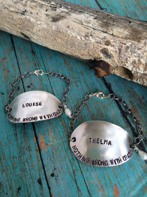 Thelma and Louise Quote Spoon Bracelets on Etsy, $45.00