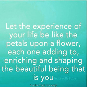 ... self #beyou #flower #petals #journey #experience #quote #quotestags