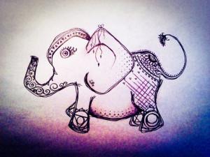 Evil eye chakra elephant