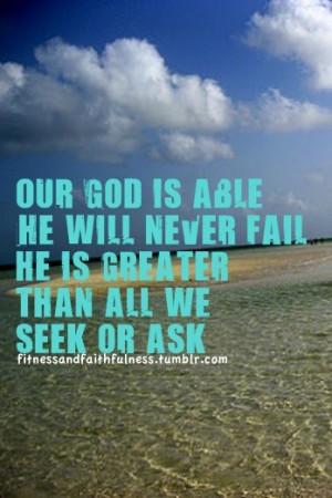 God is able https://www.facebook.com/FitnessandFaithfulness