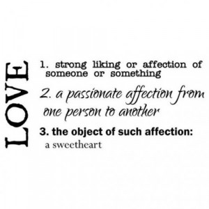 love definition vinyl wall poetry