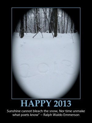 Happy New Year's Posters, Poems and Quotes for 2013