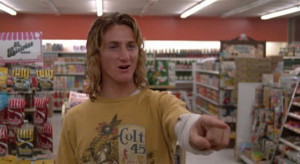 "... high school teen Jeff Spicoli in ""Fast Times at Ridgemont High"" in"