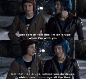 not that i do drugs scott pilgrim quote