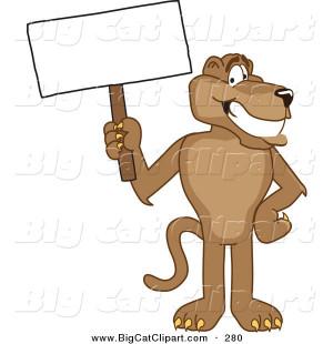 Vector Image Happy Cute Cougar Mountain Lion Mascot