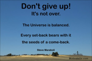 ... bears with it the seeds of a come-back. #Steve Maraboli #quotes #quote