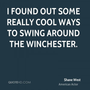 found out some really cool ways to swing around the Winchester.