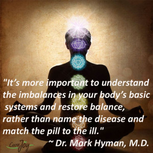 It's more important to understand the imbalances in your body's ...