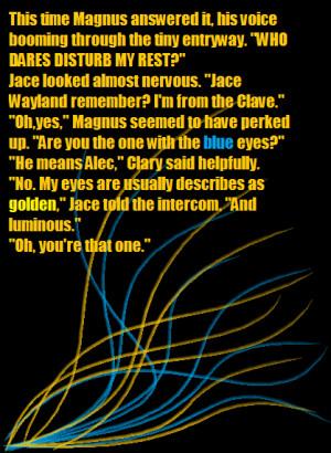 Magnus bane Quote 2 by otakuyesweare
