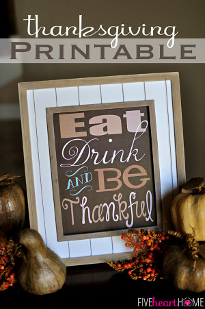 printable that, at least for me, captures the essence of Thanksgiving ...