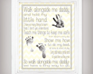 ... hand and foot prints - Father's Day Gift - Choose from Yellow or Gray