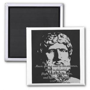 Rock Quotes - Plato Refrigerator Magnet