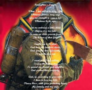 Firefighter's Prayer Image