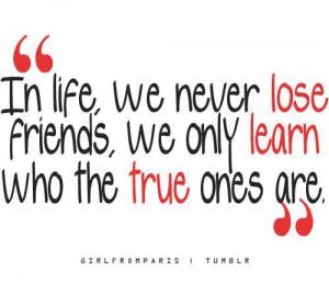 old friends, new friends, true friends