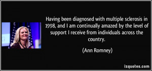 Having been diagnosed with multiple sclerosis in 1998, and I am ...