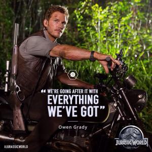 Jurassic World Owen Grady Quote - Jurassic World