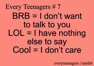 Teen Quotes Teenage Tumblr