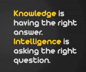 Knowledge vs. Intelligence