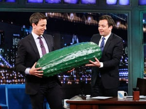 In a pickle? Jimmy Fallon lets Seth Meyers in on a