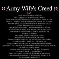 sayings or quotes army wife photo: Army Wife Creed armywifecreed.jpg