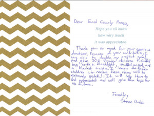 Eagle Scout Project Thank You Letter