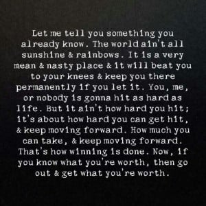 ! it's about how hard you can get hit & keep moving forward - Rocky ...