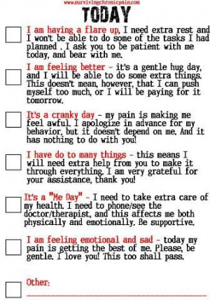 ... Family What Kind of Day It Is? Living with Fibromyalgia / Chronic Pain