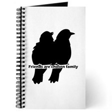 Friends Are Chosen Family Quote Cute Bird Journal for