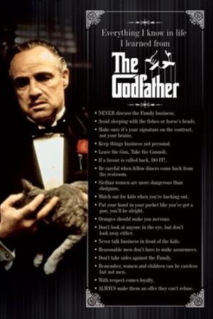 The Godfather Quotes Marlon Brando Movie Poster