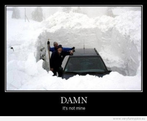 Funny Picture - Damn it's not mine - Car under snow