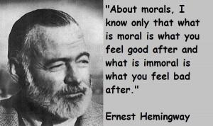 Ernest hemingway famous quotes 1
