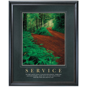 Inspirational Customer Service Quotes Service motivational poster