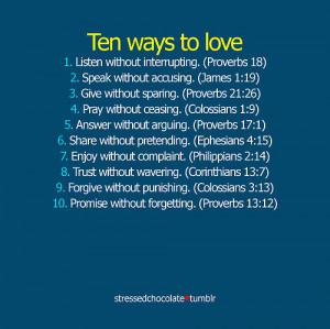 10 ways 2 love, god, god love, love, quotes, ten ways to love ...