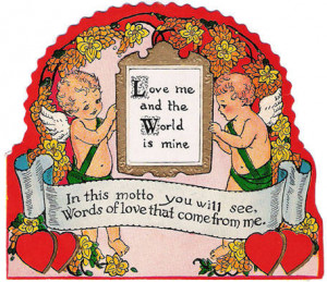 Now, let's look at some vintage 1940's Valentines, that are also