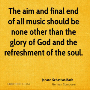 Johann Sebastian Bach Music Quotes