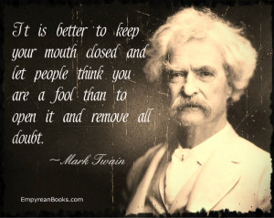 Mark Twain Quote-Fool Quote