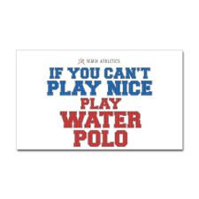 Water Polo Slogan Rectangle Sticker for