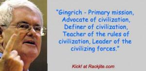 Newt Gingrich on Newt Gingrich