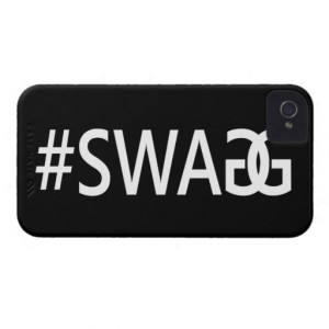 SWAG / SWAGG Funny & Cool Quotes, Trendy Hash Tag iPhone 4 Cover